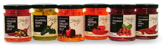 Harty's Foods Jelly Jars Product Shhot